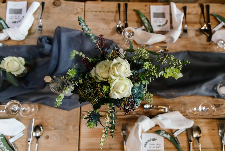 Dekoration für die Hochzeitslocation
