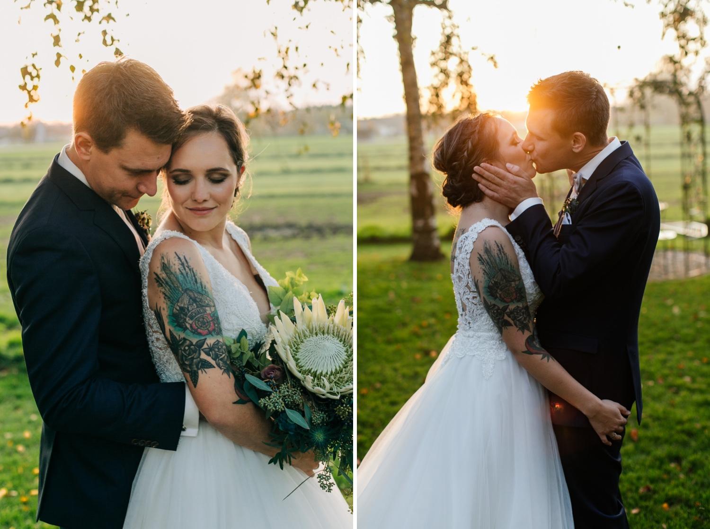 Sonnenuntergang Brautpaarportraits Lenderstuben