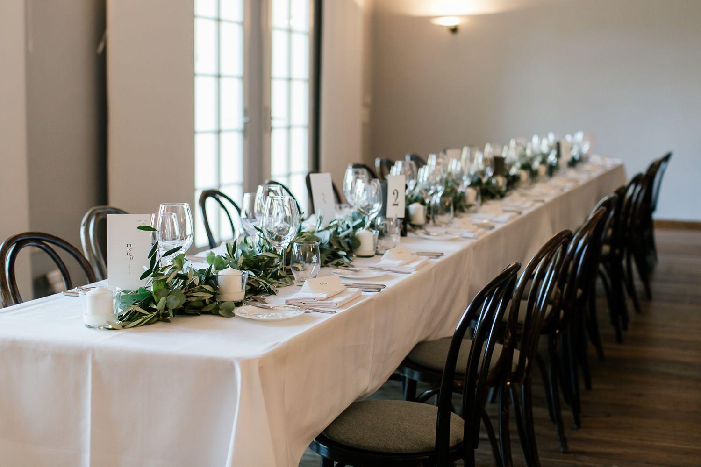 Dekoration bei der Hochzeit im Gut Sonnenhausen