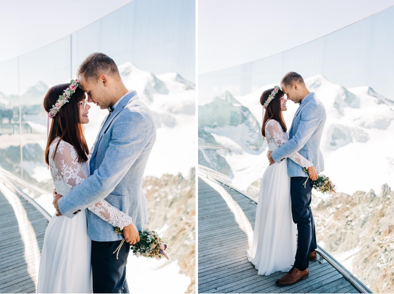 Zu zweit heiraten mit Bergblick