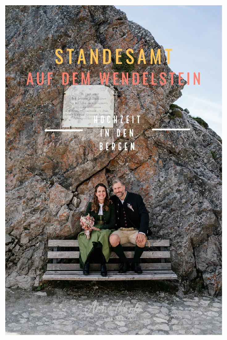Standesamtliche Hochzeit in den Bergen auf dem Wendelstein