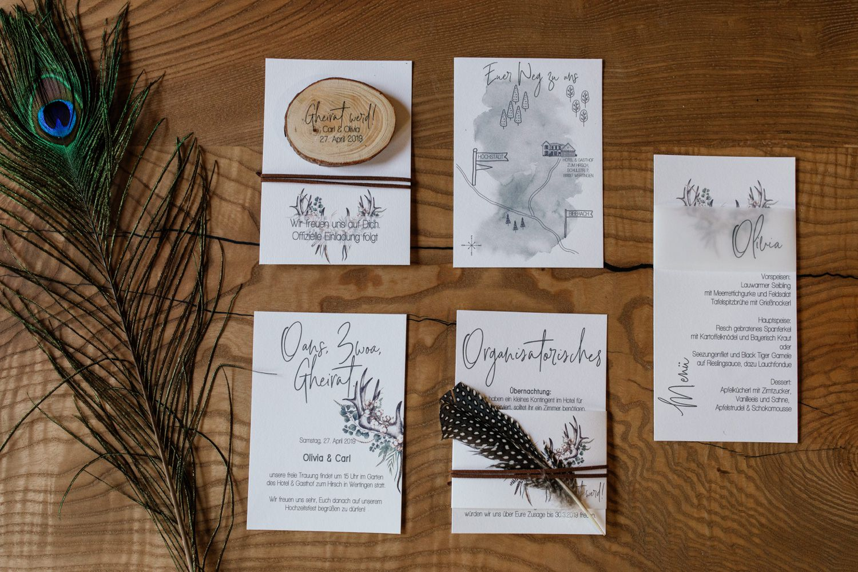 Bayrisch heiraten - Papeterie