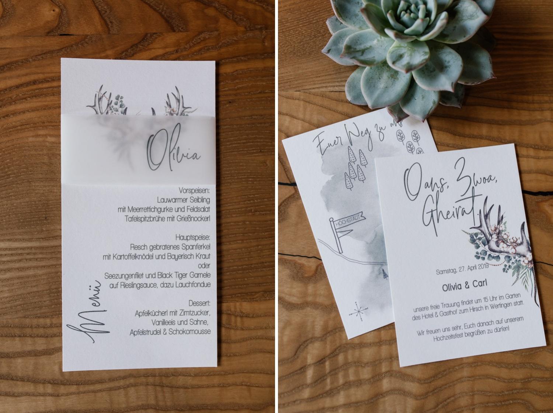 Papeterie Hochzeit Rustikal