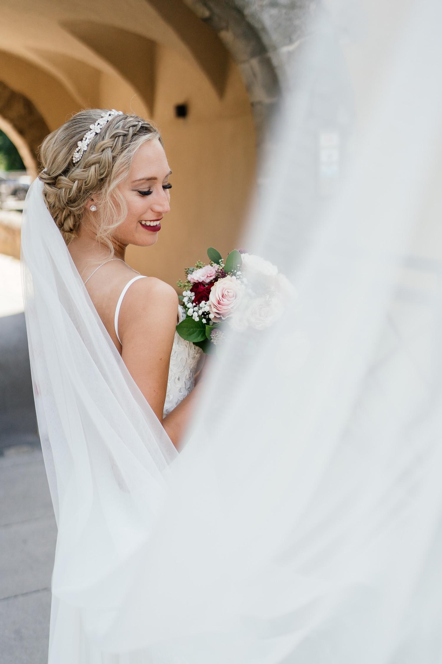 Fotoshooting Braut in Dinkelsbühl