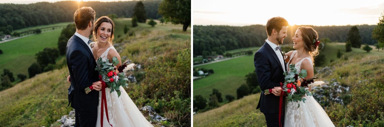 Hochzeit schwäbische Alb - Brautpaarshooting