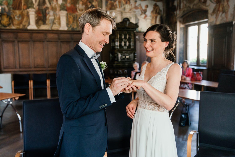 Standesamtliche Hochzeit während Corona in Friedberg